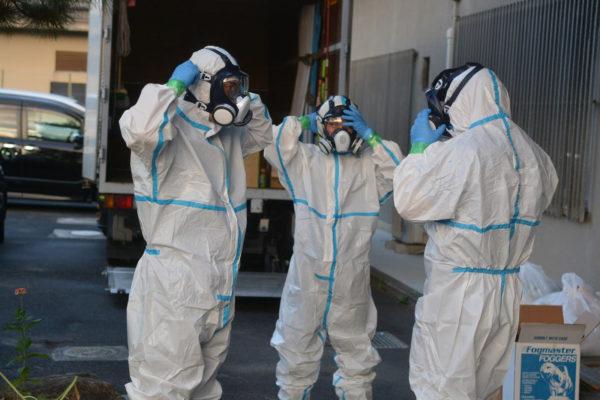 2020年8月27日 天理大学ラグビー寮のウイルス除去・除菌作業を行いました。