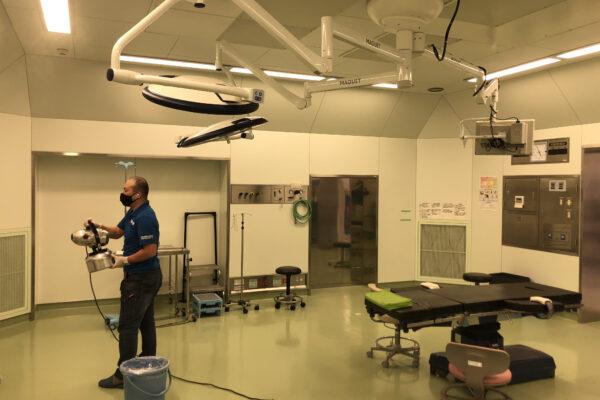 総合病院のウイルス除去作業